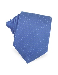 Forzieri Mini Dot Seven Fold Woven Silk Tie Light Blue