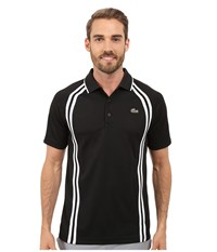 Lacoste Sport Ultra Dry Piqu Tennis Polo W Contrast Collar Black White Black Men's Clothing
