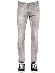Dsquared 16.5Cm Cool Guy Grey Stretch Denim Jeans