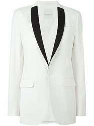 Each X Other Contrast Lapel Blazer White
