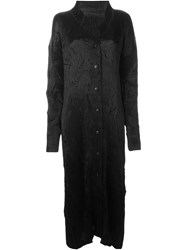 Issey Miyake Vintage Long Pleated Coat Black