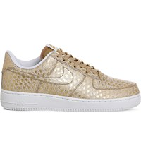 Nike Air Force 1 Lv8 Leather Trainers Gold White Reptile