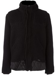 Bark Knitted Duffle Jacket Black