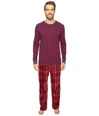 Kenneth Cole Reaction Fleece Pj Set Potent Purple Men's Pajama Sets