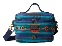 Pendleton Printed Canvas Lunch Tote Aegean Wallet Blue