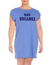 Lord And Taylor Plus Graphic Text Sleep Tee Persian Jewel