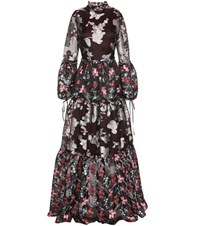 Erdem Cassandra Silk Blend Fil Coupe Dress Multicoloured