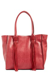 French Connection 'Laurel' Tote Red Morello