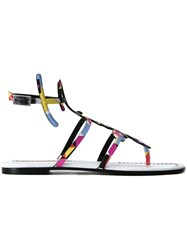Emilio Pucci Printed Ankle Strap Sandals Multicolour