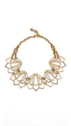 Lulu Frost Portico Statement Necklace Gold Clear