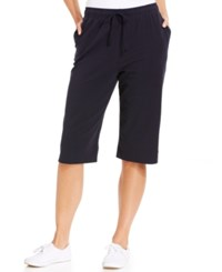 Karen Scott Petite Pull On Knit Skimmer Shorts