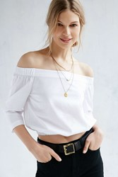 Silence And Noise Silence Noise Hamlin Off The Shoulder Top White