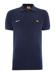 Ellesse Regular Fit Logo Polo Shirt Navy