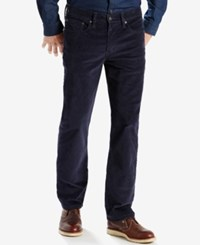 Levi's Men's 514 Straight Bedford Corduroy Pants Night Watch Blue