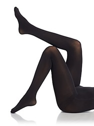 Saks Fifth Avenue Opaque Footed Tights Black