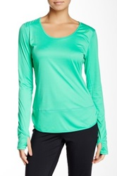 Asics Printed Long Sleeve Tee Green