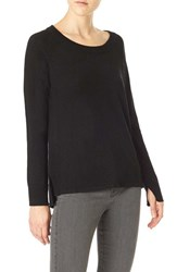 Sanctuary Women's 'Renee' Scoop Neck Sweater Black