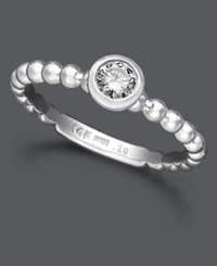 Macy's Round Diamond Stackable Ring In 14K White Gold 1 5 Ct. T.W.
