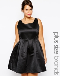 Truly You Structured Satin Prom Dress Black