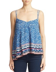 French Connection Bali Border Tank Electric Blue