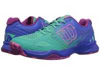 Wilson Kaos Comp Aquagreen Blue Iris Pink Women's Tennis Shoes