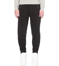 Hood By Air Zipped Cotton Jersey Jogging Bottoms Black