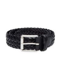 Andersons Anderson's Woven Leather Belt Black