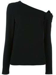 Tibi Off Shoulder Blouse Black