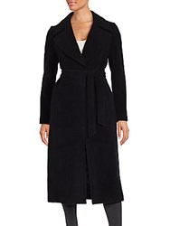 Saks Fifth Avenue Blended Wool Coat Black