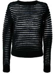 Dkny Open Knit Jumper Black
