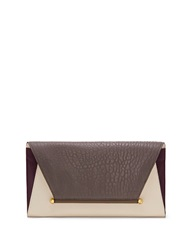 Vince Camuto Addy Leather Envelope Clutch Ivory Smoke
