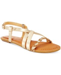 Roxy Tigres Braided Gladiator Sandals Women's Shoes Gold