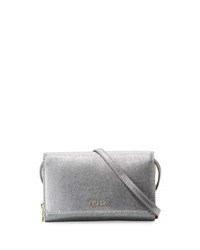 Furla Classic M Leather Crossbody Pouch Silver