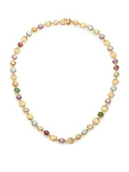 Marco Bicego Jaipur Semi Precious Multi Stone And 18K Yellow Gold Strand Necklace Gold Multi