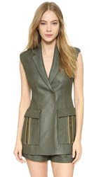Versace Tailored Vest Military