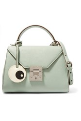 Mark Cross Hadley Baby Textured Leather Shoulder Bag Mint