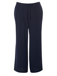 Evans Navy Palazzo Trousers