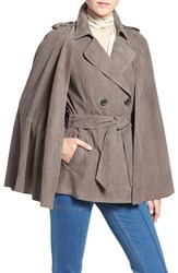 Olivia Palermo Chelsea28 Women's Suede Trench Vest With Removable Cape