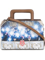 Love Moschino 'Flashes' Print Crossbody Bag Brown