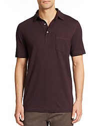 Saks Fifth Avenue Pima Cotton Polo Red