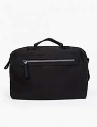 Lanvin Black Grained Leather Bowling Bag