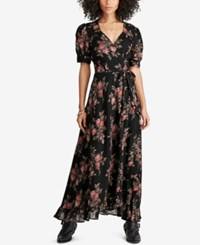 Denim And Supply Ralph Lauren Floral Print Wrap Dress Floral Multi