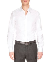 Berluti Basic Long Sleeve Woven Sport Shirt White