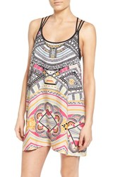Women's Rip Curl Print Racerback Cover Up White