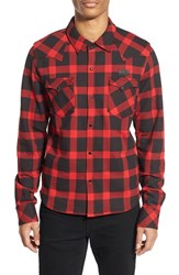 Men's Prps 'Kin' Trim Fit Buffalo Check Flannel Western Shirt