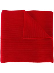 Moncler Knitted Scarf Red