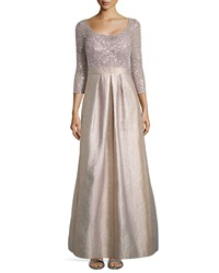 Kay Unger New York Scoop Neck Ball Gown With Sequined Bodice