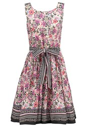 Derhy Encolure Summer Dress Rose Pink