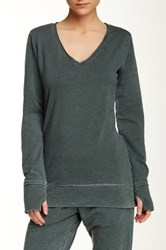 Central Park West The Wren Long Sleeve Tee Green