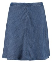 Gap Denim Skirt Chambray Blue Grey